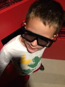 Rockin' the 3 d glasses!