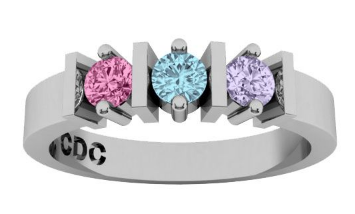 This is a grandmother's ring with my kids and my nieces birthstones