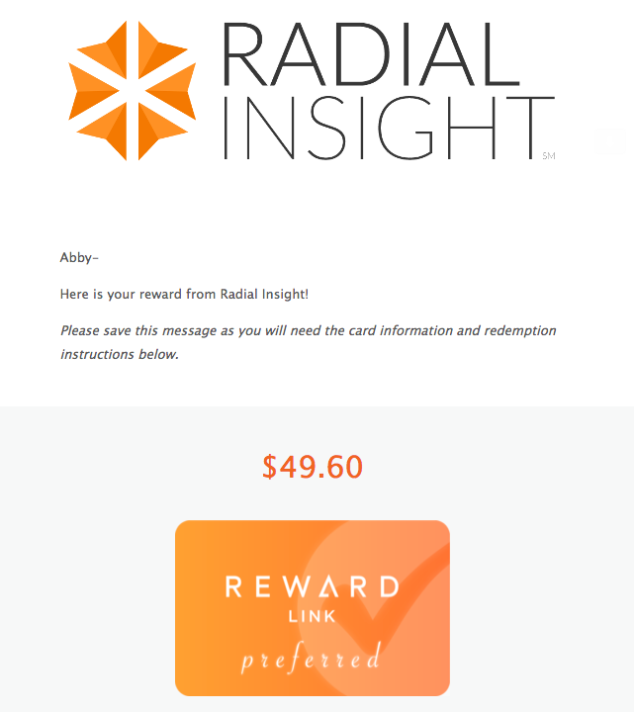 Earn Gift Cards with Radial Insight! – Hewes Family Fun